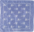 """Luxury Accessories:Accessories, Louis Vuitton Purple LV Cup Challenger Races for the America's Cup Silk Scarf . Good to Very Good Condition . 17"""" Widt..."""