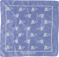 Louis Vuitton Purple LV Cup Challenger Races for the America's Cup Silk Scarf Good to Very Good Condition