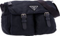 "Luxury Accessories:Bags, Prada Navy Blue Tessuto Messenger Bag . Very Good Condition. 13"" Width x 12"" Height x 4"" Depth . ..."