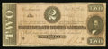 Confederate Notes:1864 Issues, T70 $2 1864 PF-1 Cr. 569 .. ...