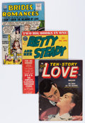 Golden Age (1938-1955):Romance, Comic Books - Assorted Golden Age Romance Comics Group (VariousPublishers, 1950s) Condition: Average GD/VG.... (Total: 11 ComicBooks)