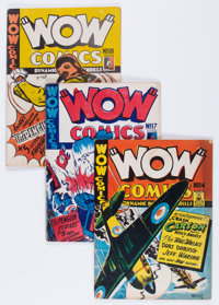 Wow Comics Group (Bell Features, early 1940s) Condition: Average GD/VG.... (Total: 10 Comic Books)