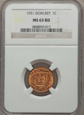 Dominican Republic, Dominican Republic: Republic Centavo 1951 MS65 Red and BrownNGC,...