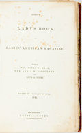 Books:Periodicals, [Harriet Beecher Stowe]. Godey's Lady's Book and Ladies'American Magazine, Vol. XX. Philadelphia: Louis A. Gode...