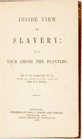 Books:Americana & American History, C.G. Parsons. Inside View of Slavery: or A Tour Among thePlanters. With an introduction by Harriet Beecher Stowe. B...