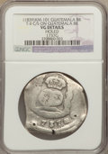 Guatemala, Guatemala: Central American Republic Counterstamped 8 Reales ND (1839) VG Details (Holed) NGC,...