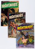Golden Age (1938-1955):Horror, Nightmare #1-3 Group (Ziff-Davis, 1952).... (Total: 3 Comic Books)