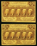 Fractional Currency:First Issue, Fr. 1281 25¢ First Issue Two Examples Very Fine or Better.. ... (Total: 2 notes)