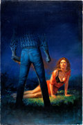Original Comic Art:Covers, Joe Chiodo - Thriller Paperback Cover Original Art (1986)....