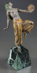 Decorative Arts, Continental:Other , A FRANZ XAVIER BERGMAN COLD-PAINTED FIGURAL BRONZE, Vienna,Austria, circa 1890. Marks: Namgreb. 12 x 6-1/4 x 2-1/2inch...