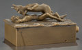 Decorative Arts, Continental:Other , A FRANZ XAVIER BERGMAN EROTIC BRONZE MECHANICAL BOX, Vienna,Austria, circa 1900. Marks: FB (in circle), BERMANN,...