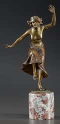 Decorative Arts, Continental:Other , AN AUSTRIAN PATINATED BRONZE FIGURE ON MARBLE BASE, circa 1900.Marks: 1356, MADE IN AUSTRIA. 8-1/2 x 5 x 2-1/2 inches (...