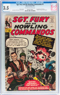 Silver Age (1956-1969):War, Sgt. Fury and His Howling Commandos #1 (Marvel, 1963) CGC VG- 3.5 Off-white to white pages....