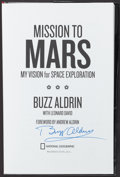 "Miscellaneous Collectibles:General, Buzz Aldrin Signed ""Mission to Mars"" Hardcover Book...."