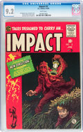 Golden Age (1938-1955):Horror, Impact #2 (EC, 1955) CGC NM- 9.2 White pages....