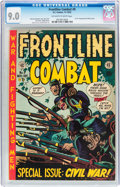 Golden Age (1938-1955):War, Frontline Combat #9 (EC, 1952) CGC VF/NM 9.0 Off-white to whitepages....