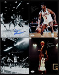 Basketball Collectibles:Photos, Oscar Robertson Signed Photographs Lot of 4....