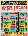 Music Memorabilia:Posters, Caravan of Record Stars Lexington Concert Poster (1964)....
