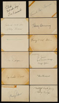 Autographs:Post Cards, 1937-55 Signed Government Postcards Lot of 100....
