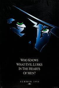 "The Shadow (Universal, 1994). One Sheet (26.75"" X 39.5"") Advance. Adventure"