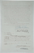 Movie/TV Memorabilia:Autographs and Signed Items, A Marilyn Monroe Interesting Signed Contract, 1952....