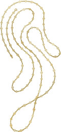 Estate Jewelry:Necklaces, Gold Longchain. ...