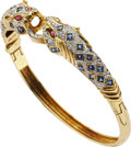 Estate Jewelry:Bracelets, Diamond, Sapphire, Ruby, Gold Bracelet. ...