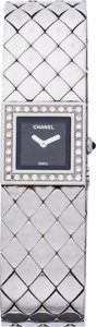 "Luxury Accessories:Accessories, Chanel Stainless Steel & Diamond Matelesse Watch. Excellent Condition. 12mm Width x 7"" Length. ..."