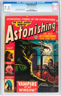 Golden Age (1938-1955):Horror, Astonishing #18 (Atlas, 1952) CGC VF- 7.5 Cream to off-whitepages....