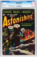 Golden Age (1938-1955):Horror, Astonishing #21 (Atlas, 1953) CGC FN- 5.5 Cream to off-whitepages....