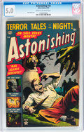 Golden Age (1938-1955):Horror, Astonishing #22 (Atlas, 1953) CGC VG/FN 5.0 Cream to off-whitepages....