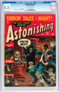 Golden Age (1938-1955):Horror, Astonishing #24 (Atlas, 1953) CGC VF+ 8.5 Off-white pages....