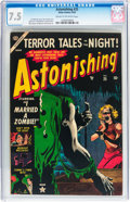 Golden Age (1938-1955):Horror, Astonishing #25 (Atlas, 1953) CGC VF- 7.5 Cream to off-whitepages....