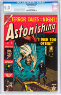 Golden Age (1938-1955):Horror, Astonishing #26 (Atlas, 1953) CGC VF/NM 9.0 Off-white pages....