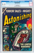 Golden Age (1938-1955):Horror, Astonishing #27 (Atlas, 1953) CGC VF 8.0 Cream to off-whitepages....