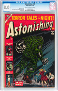 Golden Age (1938-1955):Horror, Astonishing #29 (Atlas, 1954) CGC VF 8.0 Cream to off-whitepages....
