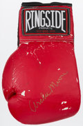 Boxing Collectibles:Autographs, Archie Moore Signed Boxing Glove....