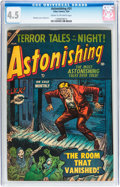 Golden Age (1938-1955):Horror, Astonishing #31 (Atlas, 1954) CGC VG+ 4.5 Cream to off-whitepages....