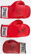 Boxing Collectibles:Autographs, Boxing Greats Signed Gloves Lot of 3....