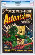 Golden Age (1938-1955):Horror, Astonishing #33 (Atlas, 1954) CGC FN/VF 7.0 Cream to off-whitepages....