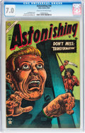 Golden Age (1938-1955):Horror, Astonishing #34 (Atlas, 1954) CGC FN/VF 7.0 Cream to off-whitepages....