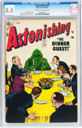 Golden Age (1938-1955):Horror, Astonishing #35 (Atlas, 1954) CGC VF+ 8.5 Cream to off-whitepages....