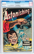 Golden Age (1938-1955):Horror, Astonishing #37 (Atlas, 1955) CGC VG+ 4.5 Cream to off-whitepages....