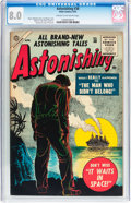 Golden Age (1938-1955):Horror, Astonishing #38 (Atlas, 1955) CGC VF 8.0 Cream to off-whitepages....