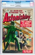 Golden Age (1938-1955):Science Fiction, Astonishing #42 (Atlas, 1955) CGC VF 8.0 Cream to off-whitepages....