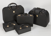 FERRARI 512 TR 5-PIECE LEATHER LUGGAGE SET BY SCHEDONI Italy, 1990s