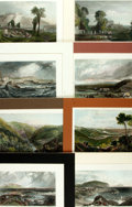 Books:Prints & Leaves, [J.M.W. Turner]. [Architecture]. Group of Eight OriginalHand-Colored Engravings Depicting Various InternationalArchitectural...