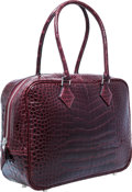 "Luxury Accessories:Bags, Hermes 28cm Shiny Bordeaux Alligator Plume Bag with PalladiumHardware. Excellent Condition. 11"" Width x 8"" Height x4..."