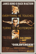 "Movie Posters:James Bond, Goldfinger (United Artists, 1964). One Sheet (27"" X 41"") MatteStyle. James Bond.. ..."