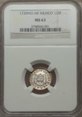 Mexico, Mexico: Philip V 1/2 Real 1739 Mo-MF MS63 NGC,...